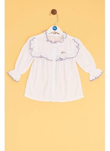 BG Baby Kız Bebek Beyaz Gömlek Beyaz